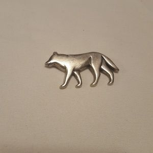 James Avery Retired Sterling Silver Wolf Brooch/ P